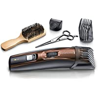 REMINGTON - Tondeuse Barbe Beard Kit MB4045 lames revêtement Titanium auto-affûtée, 9 guides de coupes (0.5 à 18mm) - Brun