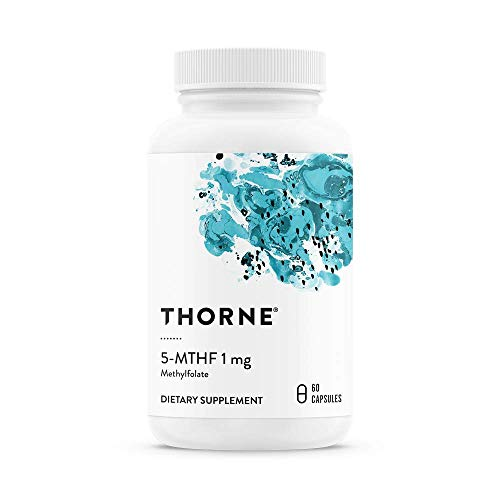 Thorne Research, 5-MTHF, 1mg, 60 Veg. Kapseln, glutenfrei (Thorne Research Vitamin B)