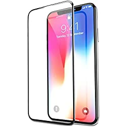 f2197372553 Bovon Protector Pantalla iPhone X, Cristal Templado iPhone X [Compatible con  3D Touch ]