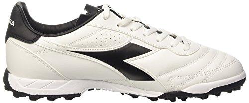 Diadora Brasil R Tf, Chaussures de Football Homme Bianco (Bianco/Nero)