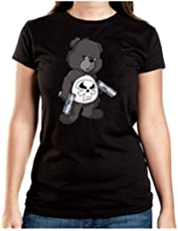 Punisher Bear T-Shirt Girls Black Certified Freak