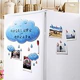 treasure-house Clouds Flexible Fridge Magnets board Waterproof Kids Drawing Message Board Magnetic Refrigerator Memo Pad ...