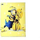 iPad 2,3,4 Minion Caso / Mi Villano Favorito Cuero de La PU Inteligente Disney de Dibujos Animados / Cubierta de Apple para Todos Los Modelos de Tamaño Completo del iPad / iCHOOSE / Plátano Abrazo