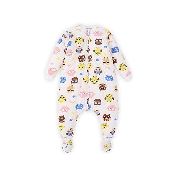 YGZD Saco de Dormir para Bebés con Patas Forrado En Invierno Manga Larga Saco de Dormir de Invierno con Cremallera En La Cubierta Del Pie