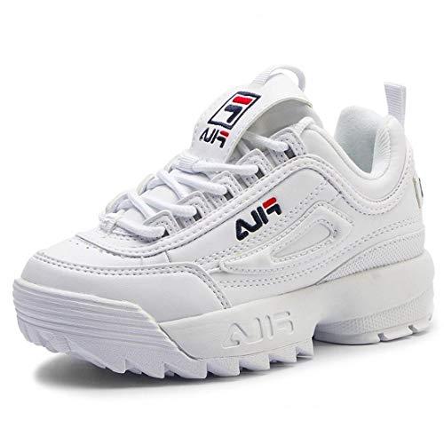 FILA 1010567 Disruptor Kids Zapatillas DE Deporte Junior Unisex White 29