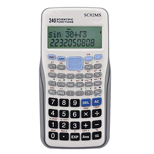 Wanlianer Taschenrechner Student Science Function Calculator Test Zweizeilige Anzeige Statistische Variable Student Calculator Büro