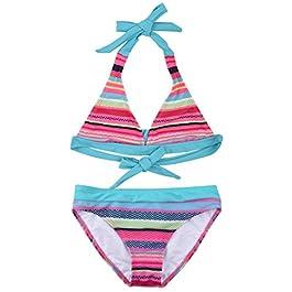 Zoerea 2 Pezzi Costumi da Bagno Bambina Costumi Interi Bambina Slip Top Bikini