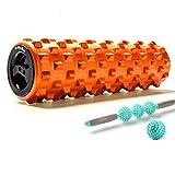 ZQSLD Foam Roller Set, Muskel-Massage, für Muskel Massage und tiefere Entspannungstherapie, 2-in-1-Muskel-Foam Roller Rumble Set für die Übung in Ihren Aching Beinen und Körper,C