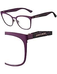 Jimmy Choo Marcos de gafas con receta para hombres 53/18/140 Ciclamen violeta
