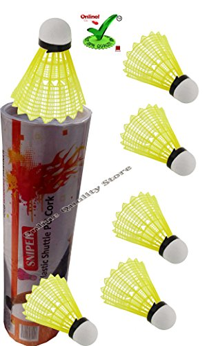 Online quality store sniper nylon shuttle cock  available at amazon for Rs.289