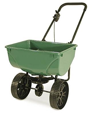 Streuwagen 35 kg Premium | Multifunktioneller Universalstreuer für Saatgut, Dünger und Streusalz | Zentrifugalstreuer mit 35 kg Fassungsvermögen und 2,5 bis 3 m Streubreite