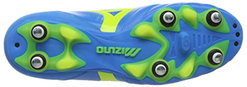 Mizuno Morelia Neo Kl Mix, Scarpe da Calcio Uomo Blu (Blue (Diva Blue/Safety Yellow))