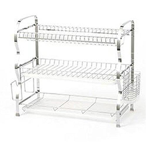 REGAL ZLR Moderne Mode 22-Zoll-Dreistöckige Großraum-Küchenschüssel-Trennregale -
