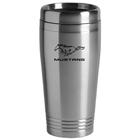 Ford Mustang Travel Mug Silver by Au-Tomotive Gold, INC