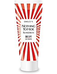 """Der umweltfreundliche Sonnenschutz """"Nothing to Hide"""" von Omuci, Veganer-freundlich, mit natürlichen Inhaltsstoffen. UVA- + UVB-Schutz. (50 SPF, 100ml)"""