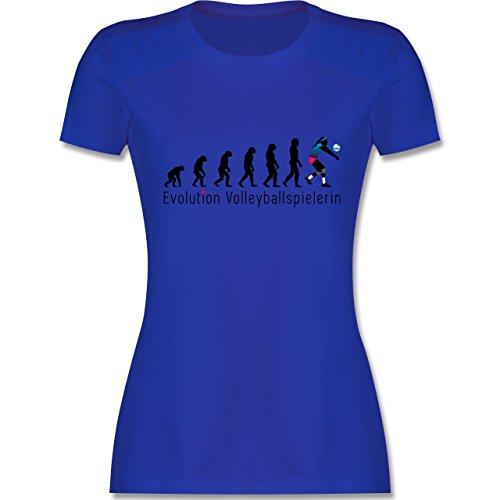 Evolution - Volleyballspielerin Evolution - tailliertes Premium T-Shirt mit Rundhalsausschnitt für Damen Royalblau