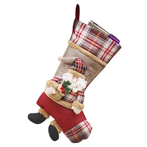 Yilianda calzini di natale calze di natale 3d santa calza di natale ornamenti di natale appesi