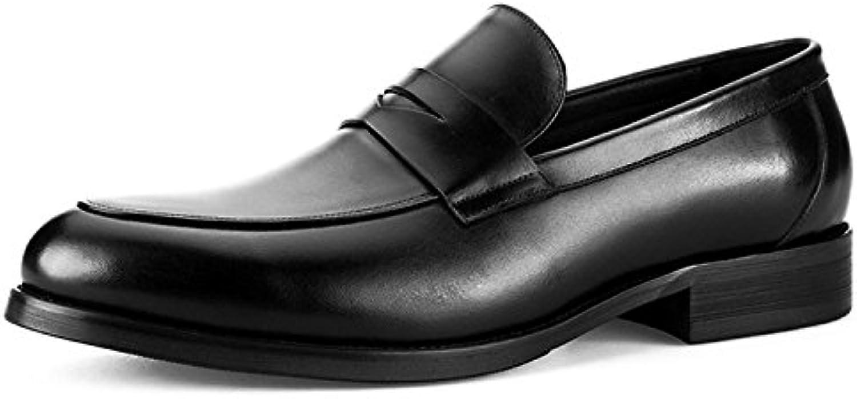 LYZGF Zapatos De Cuero De Conducción Perezosos Ocasionales De La Moda De Los Jóvenes De Los Hombres -