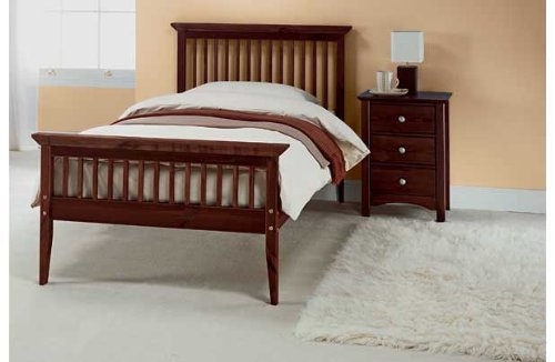 Single 3ft Wooden Shaker Bedframe Chocolate with Tanya mattress