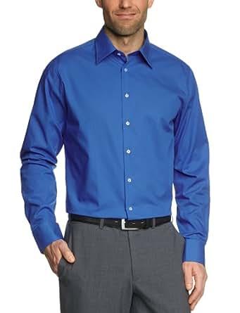 Schwarze Rose Herren Businesshemd Slim Fit 226200, Gr. 44, Blau (17 blau)
