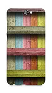 Amez designer printed 3d premium high quality back case cover for HTC One A9 (Colored wood planks)
