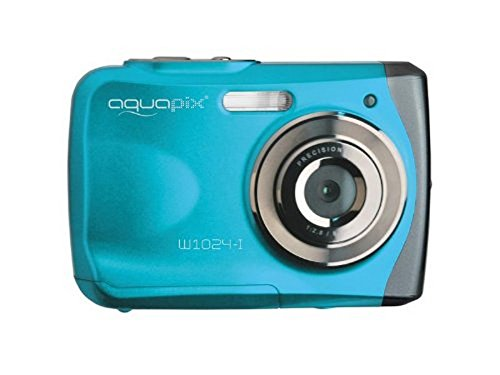 "Easypix Aquapix W1024 - Cámara compacta Digital (10 MP, 2.4"", Zoom Digital 4X, VGA), Color Azul"