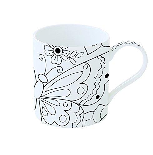 Easy Life 198BUTY Coffret Mug à Peindre, Porcelaine, Blanc, 35 cm