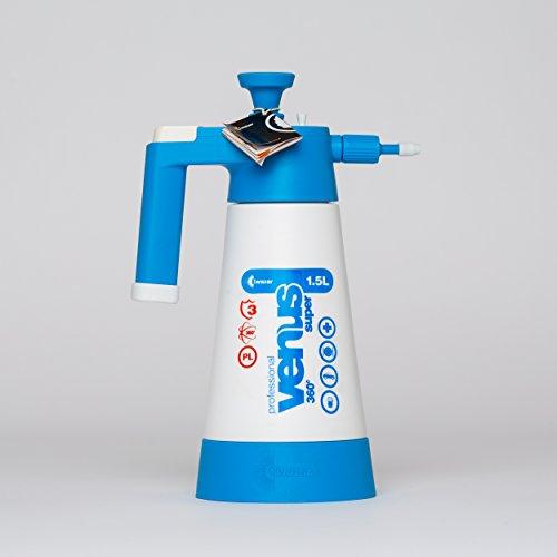 Preisvergleich Produktbild Drucksprüher Sprüher Sprayer Pumpsprüher mit druckablass Ventil Kwazar Venus 360° Viton Dichtung 1,5 L