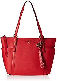 Michael Kors Charlotte Medium Top Zip Tote - Bright Red