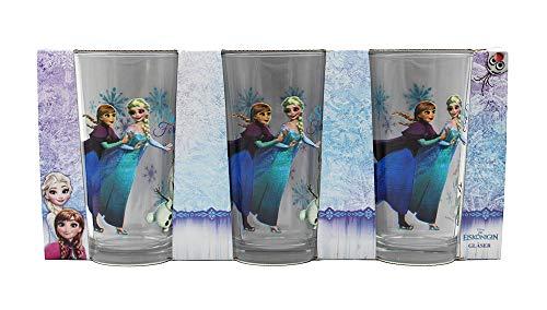 Disney Frozen 15701, Gläser, 3er Set Trinkgläser, Mehrfarbig