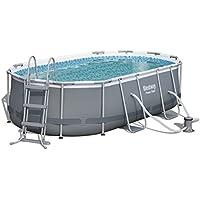 Plane Aufblasbare Pool Abdeckung für Ovalpool 740 x 360 cm