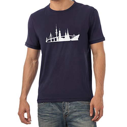 Texlab - Skyline Hamburg - Herren T-Shirt, Größe XL, Navy