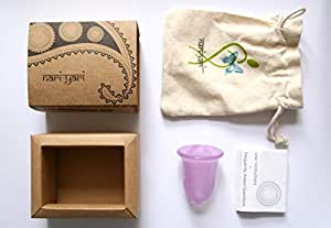 Nari Yari Menstrual Cup (Regular): Made of Platinum-Cured Medical Grade Silicone, Ideal for all ages with normal physical activity: 100% Plastic-Free