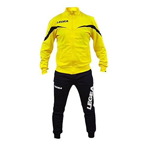 perseo sport tuta legea mosca t122 uomo allenamento fitness calcio tempo libero vari colori e tg ... (s, giallo/blu)