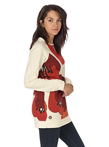 Burton Damen Lima Crew Sweatshirt Canvas Poppyfield