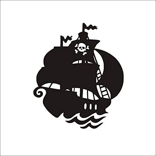schiff wand kreative wandaufkleber/wohnzimmer wandaufkleber/schlafzimmer wandaufkleber kinderzimmer dekoration home art abnehmbare PVC wandaufkleber, 66 cm x 57 cm schwarz ()