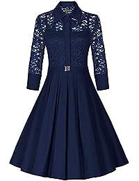 Om Sai Enterprise Women's Solid Crepe A-line Midi Dress (Navy Blue)