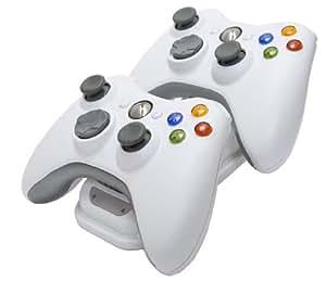 Double Station de recharge pour manettes de jeux Xbox 360