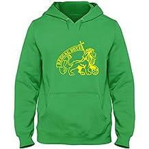Speed Shirt Sudadera con Capucha Verde WC0424 Jamaica Reggae Boyz