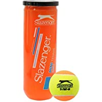 Slazenger Unisex Mini Orange Balls 3 Pack Stage 2 Beginners Low Compression