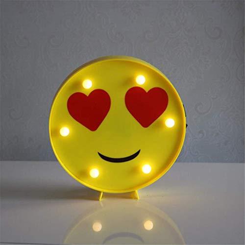 MTX Ltd Nachtlicht Kreative Lustige LED Nachtlicht Smiley Ausdruck Pack Geburtstagsgeschenk Qq Ausdruck Serie Modellierungslicht