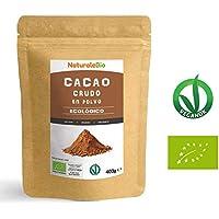 Cacao crudo Ecológico en Polvo 400g | Organic Raw Cacao Powder | 100% Bio, Natural y Puro | Producido en Perú a partir de la planta Theobroma Cacao | Rico en antioxidantes, minerales y vitaminas.