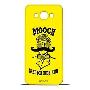 ezyPRNT Mooch Nahi To Kuch Nahi(Yellow) Hard Back Case For Samsung Galaxy A8