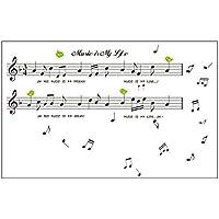 Adesivo Da Parete Porte Nota Musicale Musica Spartito Decalcomania Nero DIY Casa