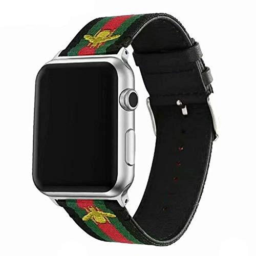 af855efca26 Daze en Nylon Bandes de Rechange pour Apple Montre avec Vert et Rouge à  Rayures et
