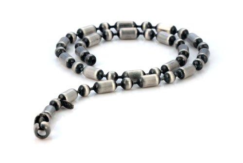 Bico Herren Stemmeisen 48cm Kugelkette Halskette (F11 48cm) Silber