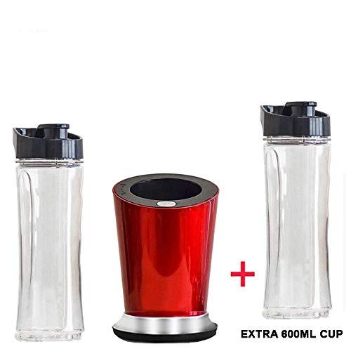 YANYING Mini licuadora Personal portátil de 300 W, licuadora/exprimidor de Batidos/Botella de 600 ml/Taza...