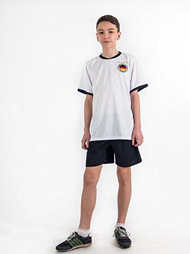 Unbekannt Fußball Trikotset Trikot Kinder 4 Sterne Deutschland Wunschname Nummer Geschenk Größe 98-170 T-Shirt Weltmeister 2014 Fanartikel EM 2016 (164)