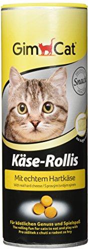 GimCat Käse-Rollis | Vitaminreicher Katzensnack mit Echtem Hartkäse