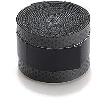 NiceButy negro antideslizante cinta de agarre raqueta de tenis sobre grip para raquetas de bádminton